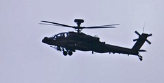 Apache silhouette. (Les Fisher) Tags: silhouette apache helicopter oversheringham