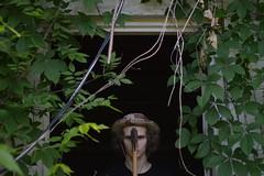 Self Portrait 1 (imkaifilbey) Tags: boy portrait black green face hat self person wires axe selfie