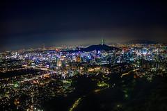 Seoul from Inwangsan Mountain (andrewgrove) Tags: seoul night skyline hdr city korea aerial view mountain inwangsan
