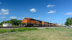 the double stack under bright blue skies (contemplative imaging) Tags: 169 2016 20160716 6678 cirail20160716d7000 ge america bnsf bnsf6678 burlington contemplativeimaging d7000 day diesel diesels digital domestic doublestack dslr engine engines es44 es44c4 generalelectric hot il ill illinois intermodal july locomotive locomotives memorialpark midwest midwestern nikon oglecounty partlysunny photo photography power railroad railroads railway rochelle ronzack saturday summer train trains transport transportation unit usa tokina1228mmf4afatxprodx