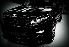 208 of 366 (I line photography) Tags: 365project rangerover evoque overfinch sport shinnycoat black blackandwhite reflection