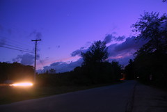 down the road (Bets<3 Fine Artist ~Picturing Light ~ Blessings ~~) Tags: mainethewaylifeshouldbe mainenortheasternunitedstates nikond80 light shadow clouds sunset night