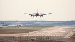 sideways (valentin hintikka) Tags: dabcp crosswind gusty efhk hel helsinkivantaa 22l landing arrival a321 winglets airberlin finnair airbus