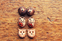 Polymer Woodland Creatures (Oakley Studio) Tags: woodland design rustic polymerclay earthy artbeads polymerclayartist jewelrycomponent jewellerycomponent