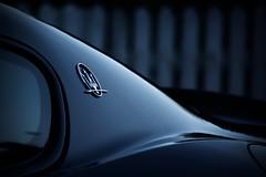 Maserati Gran Turismo (Bullpics) Tags: auto blue detail monochrome car logo nikon dusk beautifullight gran gt brand turismo luxury maserati sportscar d7100