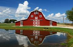 UGA Barn (davidwilliamreed) Tags: redbarn uga universityofgeorgia pond reflections