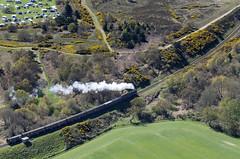 North Norfolk Railway Poppy Line (John D F) Tags: train aerialview railway aerial aerialphotography sheringham aerialphotograph northnorfolkrailway northnorfolk aerialimage thepoppyline aerialimagesuk
