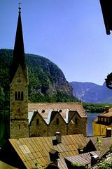 Hallstatt (Jurek.P) Tags: hallstatt austria church architecture alps scan 35mm minoltadynax7000i jurekp