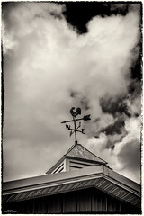 From The Northwest (59roadking - Jim Johnston) Tags: ifttt 500px wind vane barn cupola sky clouds black white rooftop roof