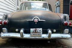 Packard (pburka) Tags: license plate louisiana la nola neworleans packard car back bumper trunk black metal chrome motorcar