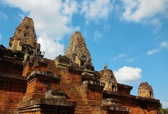 magnificent Pre Rup (SM Tham) Tags: asia cambodia angkor prerup khmer stone temple pyramid architecture steps towers lions statues tiers sky clouds people outdoors sanctuaries unescoworldheritagesite