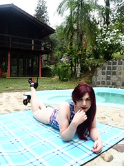 2016.09-06 (SamyOliver) Tags: samycd samyoliver samanthaoliver samy samantha married nature pool sensual shemale redhead genderfluid crossdresser crossdress transformista highheels shoes oliver bodysuit boytogirl tranny transvestite brazilian