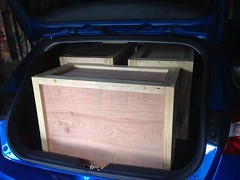checking for i30 fitting (coghilla) Tags: lego transport display plywood boxes homemade