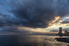 Last days of the year to swim ? Cloudy sunrise on Beirut's seashore - Lebanon (Laurent Tironi) Tags: sunrise beirut lebanon seashore canon6d canon1635mmf4 cloud cloudy morning sea seascape