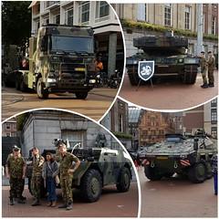 Militairen en pantservoertuigen op de Grote Markt (zaqina) Tags: millitairen grote markt groningen pantservoertuigen tank vrachtwagen veteranen regiment leger militair bataljon