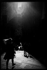 A light rain amongst the lunchers (Albion Harrison-Naish) Tags: sydney newsouthwales nsw australia streetphotography sydneystreetphotography albionharrisonnaish mobilephotography iphoneography iphone iphone5s hipstamatic akiralens blackeyssupergrainfilm jollyrainbow2xflash unedited straightoutofcamera sooc