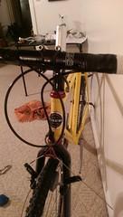 IMAG0419 (snowbboots) Tags: bike trek cool san steel restore marco series restoration ritchey build 700 touring saddle cyclocross sanmarco rebuilt chrisking 750 yellowbike multitrack bikerestoration trekmultitrack750