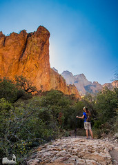 Facing the Giants (J. Moore Outdoor Photography) Tags: park window big bend basin trail national hiker chisos