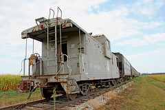 IC Caboose (craigsanders429) Tags: caboose canadiannational cabooses illinoiscentralrailroad mattoonillinois coveredhoppercars icrrcaboose