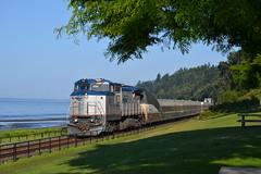 Amtrak Cascades, White Rock, BC (Mark S Horne) Tags: railroad train bc railway amtrak cascades whiterock
