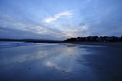 on the beach 2/52 (auroradawn61) Tags: uk pink blue sunset sea england beach clouds reflections coast sand nikon january dorset curve sandbanks poole wetsand 2015 52weeks explored 52weeksin2015project 52weeksin2015 8to14january2015