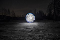 Trying out something new (for me) (Kasinfoto @ Facebook) Tags: winter snow lightpainting cold ball stars lights nikon wind windy f28 d610 14mm samyang