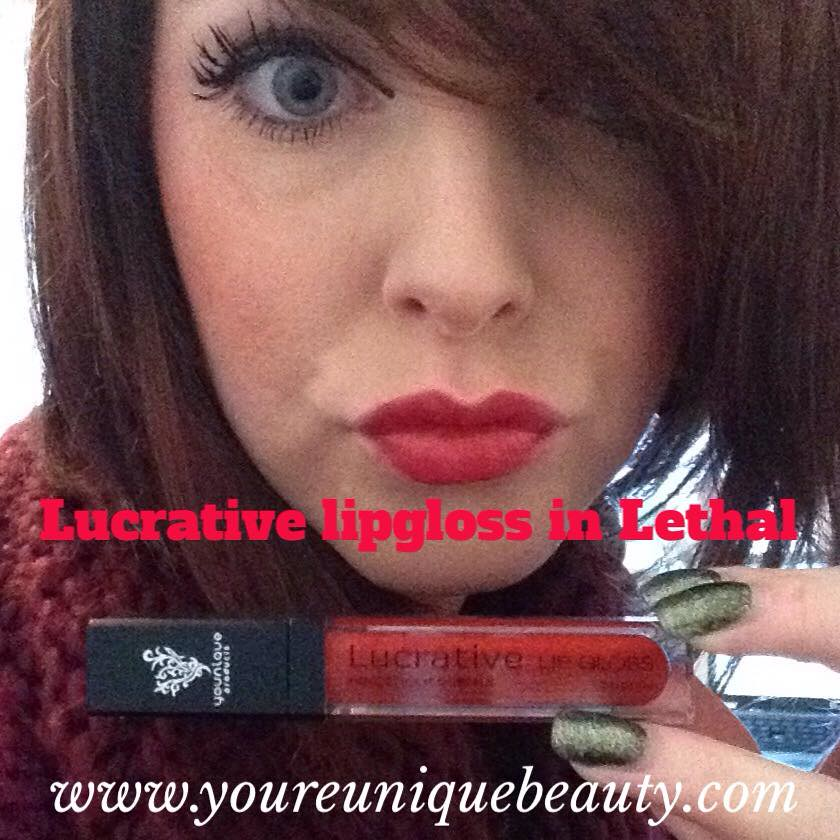 1943c6b240e melethal (youreuniquebeauty) Tags: makeup lips redlips cosmetics lipgloss  younique lucrativelipgloss