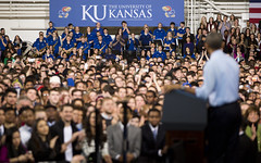 President Obama Visits the University of Kansas
