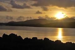 Sunset Loch Caroy - Isle of Skye (mpw1421) Tags: water golden scotland nikon isleofskye d60 scottishhighlands autumngold lochbracadale smallisles lochcaroy