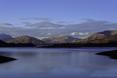 Loch Leven (Hazel Boyle Photography) Tags: blue winter sunset sky lake seascape cold water beautiful clouds landscape scotland highlands still dusk scottish highland glencoe loch mountian leven