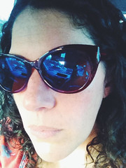 331/365 (moke076) Tags: blue portrait reflection home me face oneaday sunglasses mobile self work hair driving ride cellphone cell curly rush hour photoaday 365 iphone selfie 2014 project365 365project vsco vscocam