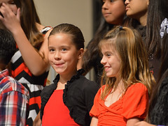 Concert Time (simpsongls) Tags: red people music church kids choir laughing concert funny singing smiles indoor grin snicker