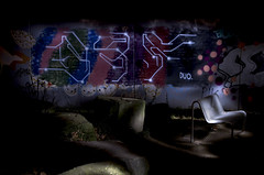StreetWorks: White-Bench-Duo  Night-Pieces BXLIV - 2028x (Jupiter-JPTR) Tags: playground germany graffiti duo cologne colonia nightshots ccaa nightvisions jptr streetworks nightpieces