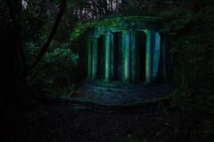 (Subversive Photography) Tags: light art abandoned night forest dark twilight woods dusk flash ruin vision ethereal mystical folly strobe nightfall otherworldly unearthly 17mmtse godox danielbarter sonya7r