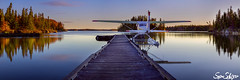 The First Flight - Manitoba, Canada (schuster.sean) Tags: lake fall plane sunrise fishing dock manitoba float priaire