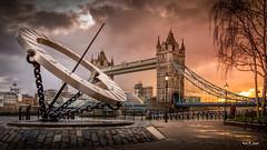 Tower Bridge (Karl P. Laulo) Tags: bridge sunset london rain towerbridge rainshower