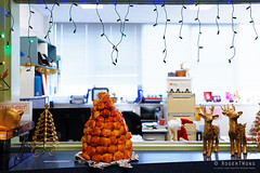 20141202-04-Tanya's croquembouche (Roger T Wong) Tags: christmas food office australia tasmania hobart croquembouche 2014 sonyalpha7 sonya7 carlzeiss35mmf28 rogertwong sonyilce7