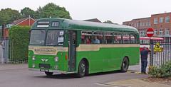 DB740.  AEC Reliance. (Ron Fisher) Tags: uk greatbritain england bus green pentax unitedkingdom transport gb publictransport farnborough reliance aec pentaxkx aecreliance aldershotdistrict farnboroughbusrunningday