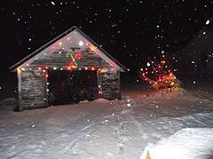 my old garage all lit up for christmas 2014 (brown_dan72) Tags: christmas vintage gilbert c9 c7