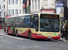 Brighton & Hove 119 (BL57 OXK) Brighton 15/12/14 (jmupton2000) Tags: uk bus sussex mercedes benz coast coach brighton hove south group company artic bendy bendybus goahead citaro bl57oxk