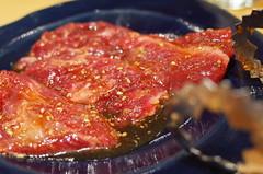 outside skirt (HAMACHI!) Tags: food macro japan dinner restaurant tokyo beef bbq meat kanda gr ricoh 2014 koreancuisine harami outsideskirt 牛正 gyusho