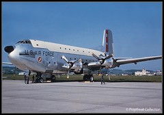 53-023 Douglas C-124C Globemaster II U.S. Air Force (propfreak) Tags: us force air zurich douglas usaf slidescan kloten zrh lszh globemasterii c124c 53023 propfreak propfreakcollection