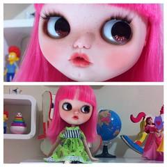 Uma das gêmeas do Dempsey ❤️ #blythe #doll# custom #dulcetylerdolls #guava