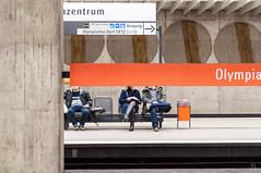Anonymized (class M planet) Tags: mnchen concrete menschen schild ubahn beton