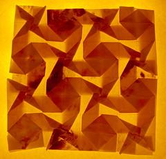 Fujimoto Tesselation Plain weave back - transparency (Pliages et vagabondages) Tags: origami tessellation décoration fujimoto