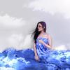 (ana karine .) Tags: blue azul female clouds photoshop hair person model retrato nuvens movimento cabelo lençol