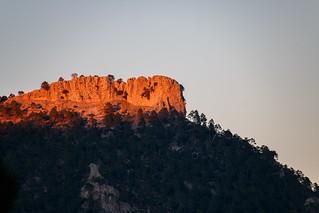 Últimos rayos de sol en Sierra de Segura