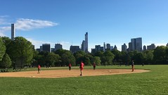 Baseball in the Park (Skellig2008) Tags: nyc newyorkcity trees game grass skyscraper spring baseball centralpark manhattan sunday greatlawn skyscrapermidtown