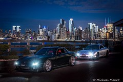 RX-7 Manhattan skyline (mik3ymomo) Tags: new blue red classic cars yellow skyline night work silver newjersey high nikon nissan manhattan nj exotic porsche 1967 jersey cym f18 1977 corvette rx7 lamborghini f28 944 medford octane fd3s fd d800 2015 workmeister charthouse lightpainted 2470 flyingw 2470f28 fikse 20mmf18 hosj carsandcoffee nikond800 highoctanesouthjersey mazdarx7incompetitionyellowmica icelight2