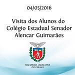 Visita dos Alunos do Col�gio Estadual Senador Alencar Guimar�es 04/05/2016
